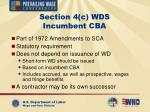 section 4 c wds incumbent cba