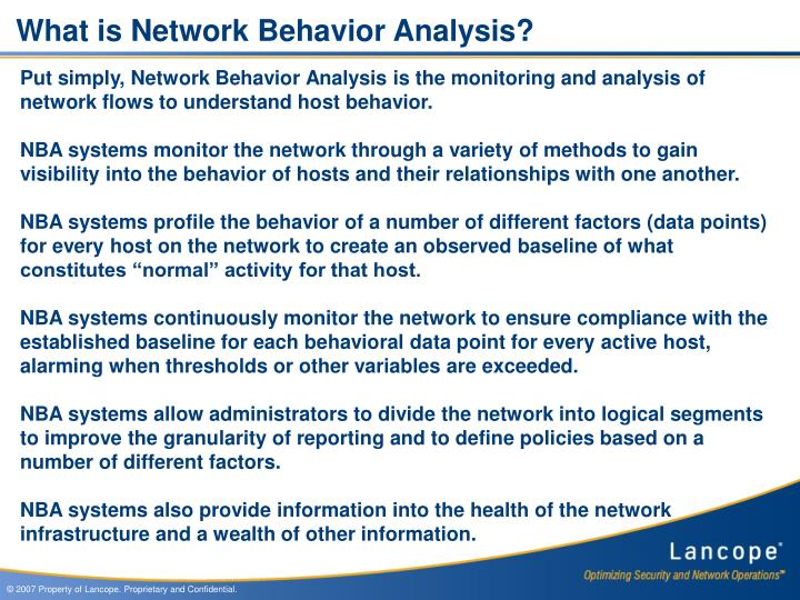 What is Network Behavior Analysis?