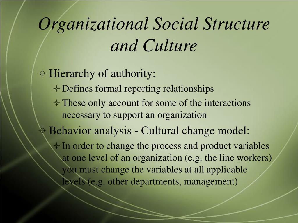 organisational structures and cultures 4 common types of organizational structures there are many different kinds of organizational structures found in companies organizational structures can be tall, in the sense that there are a number of tiers between entry-level employees and the leaders of the company organizational structures can also be fairly flat, in the sense that there.