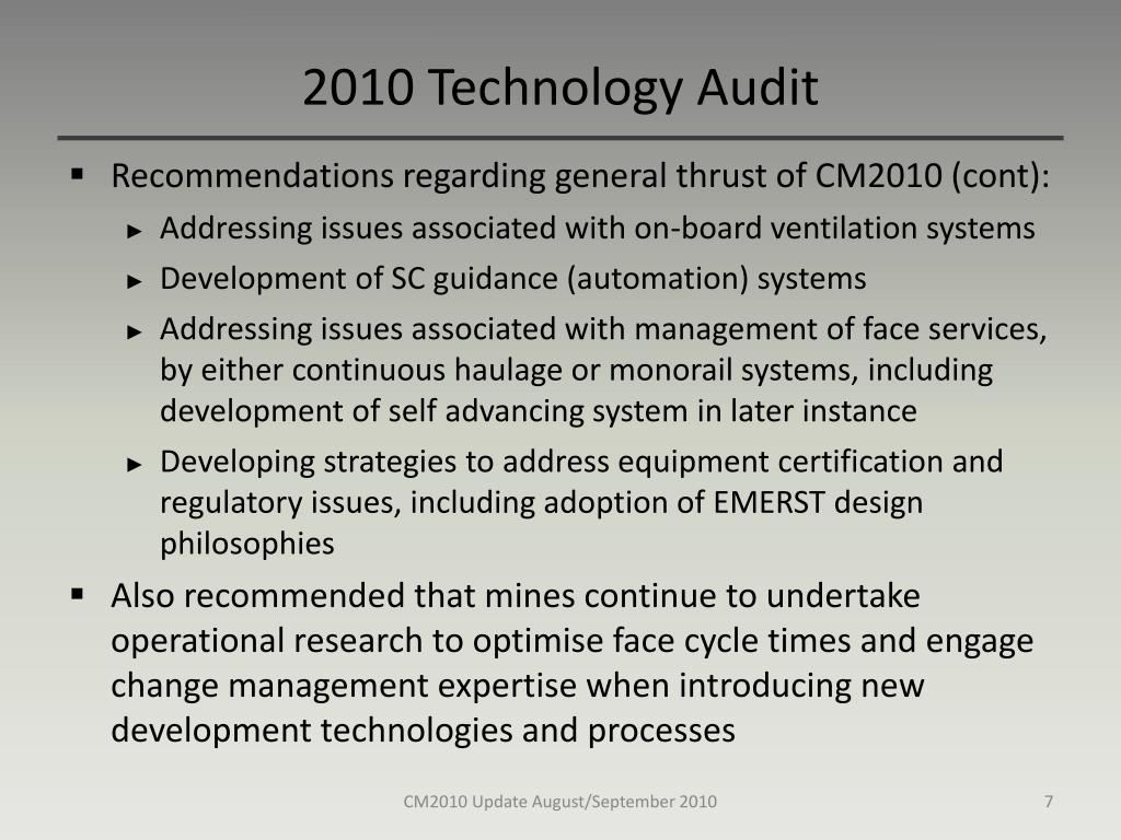2010 Technology Audit