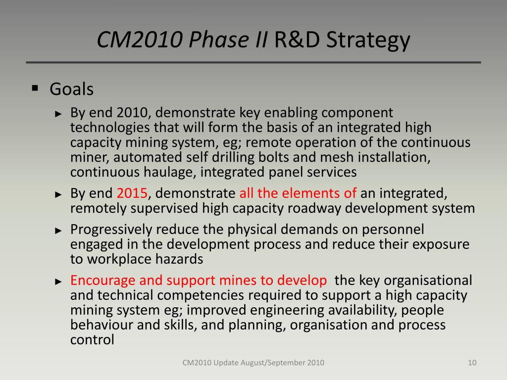 CM2010 Phase II