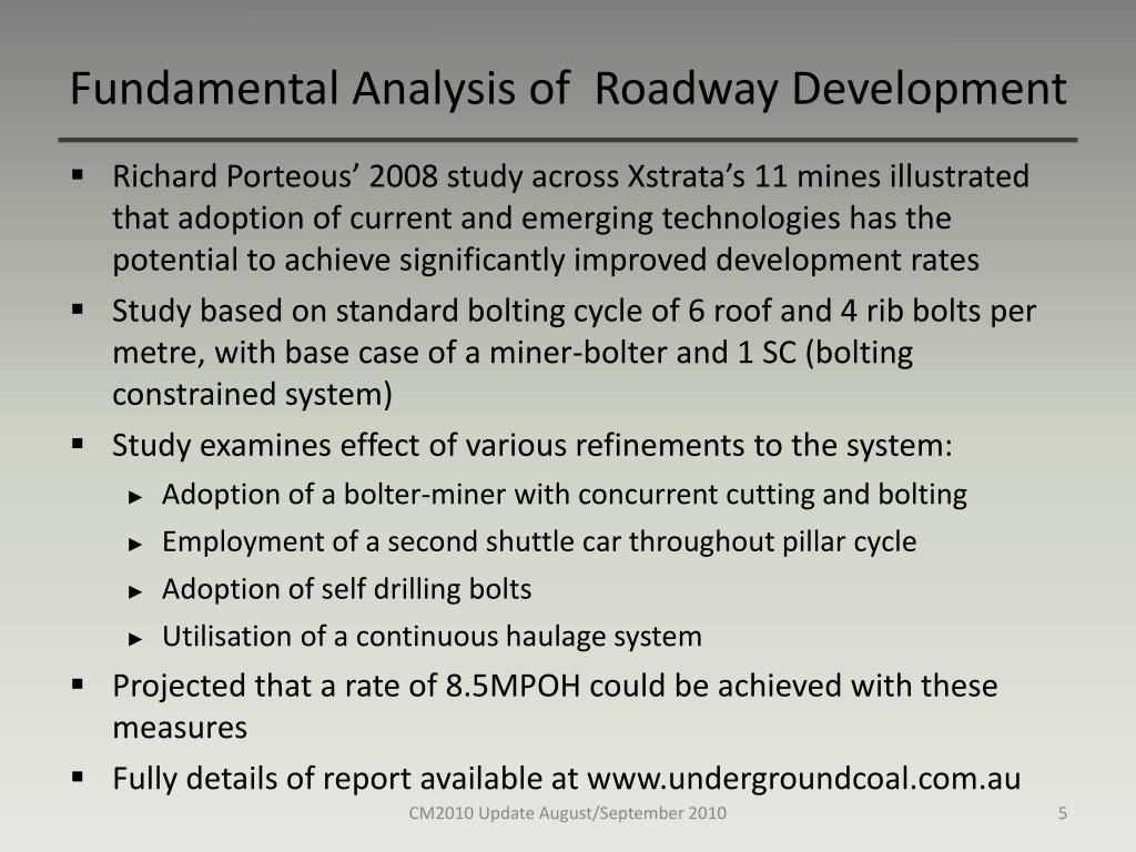 Fundamental Analysis of  Roadway Development