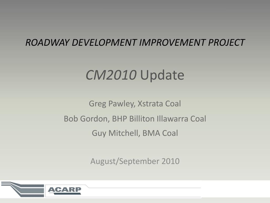 ROADWAY DEVELOPMENT IMPROVEMENT PROJECT