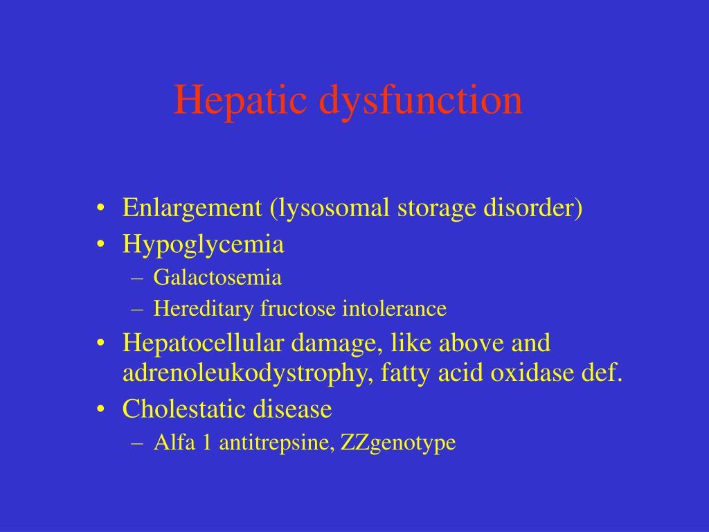 Hepatic dysfunction