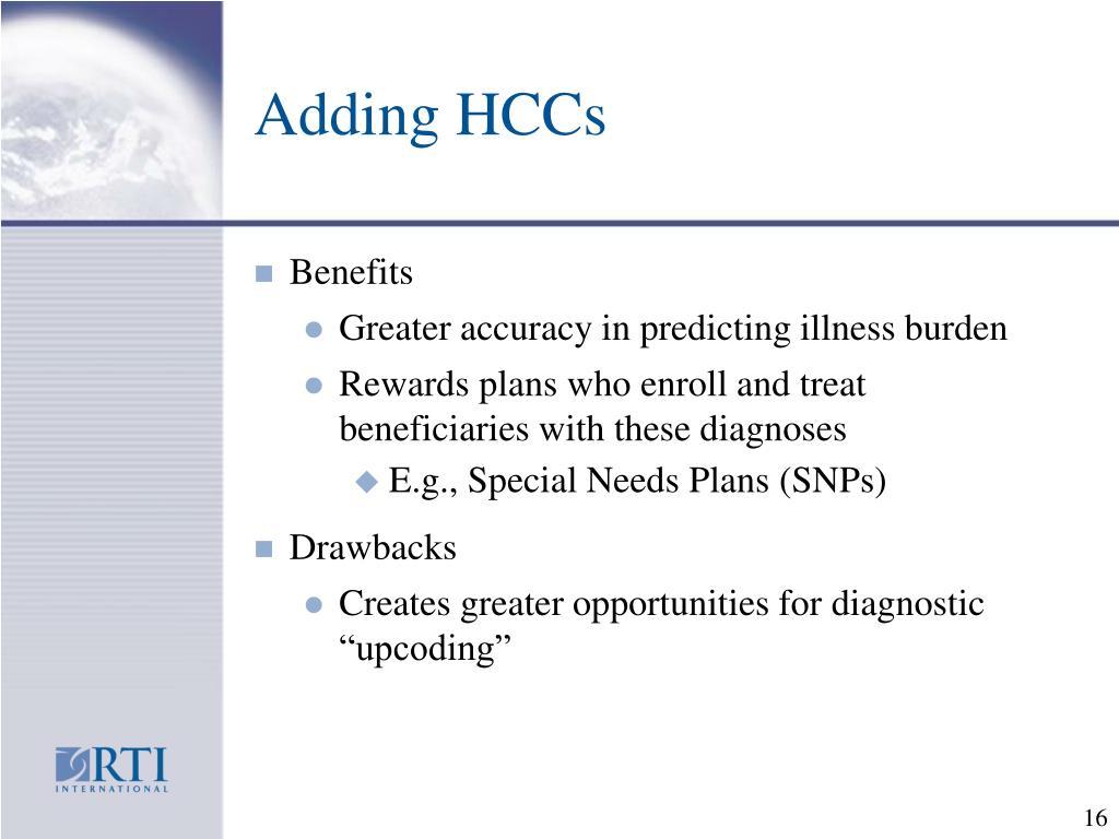 Adding HCCs