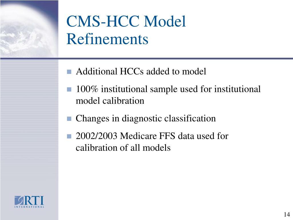 CMS-HCC Model Refinements