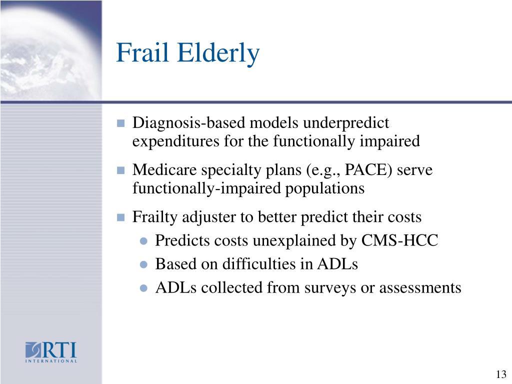 Frail Elderly