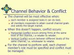 channel behavior conflict