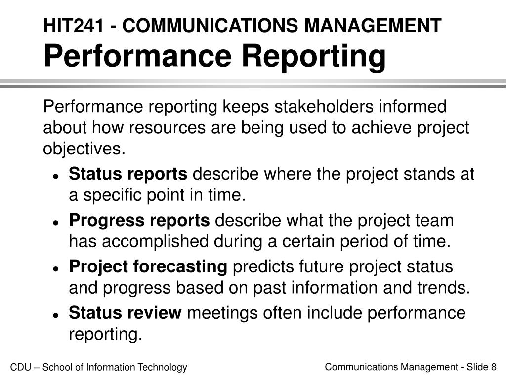 HIT241 - COMMUNICATIONS MANAGEMENT