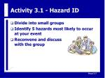 activity 3 1 hazard id
