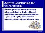 activity 3 4 planning for vulnerabilities