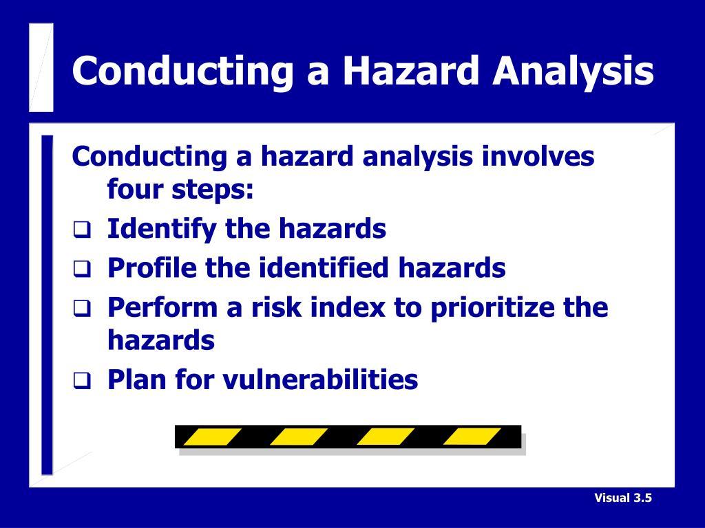 Conducting a Hazard Analysis