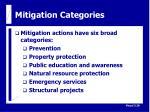 mitigation categories