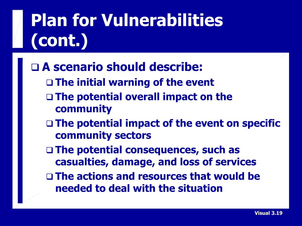 Plan for Vulnerabilities (cont.)