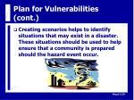 plan for vulnerabilities cont21