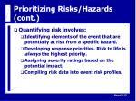 prioritizing risks hazards cont14