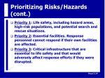 prioritizing risks hazards cont15