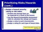 prioritizing risks hazards cont16