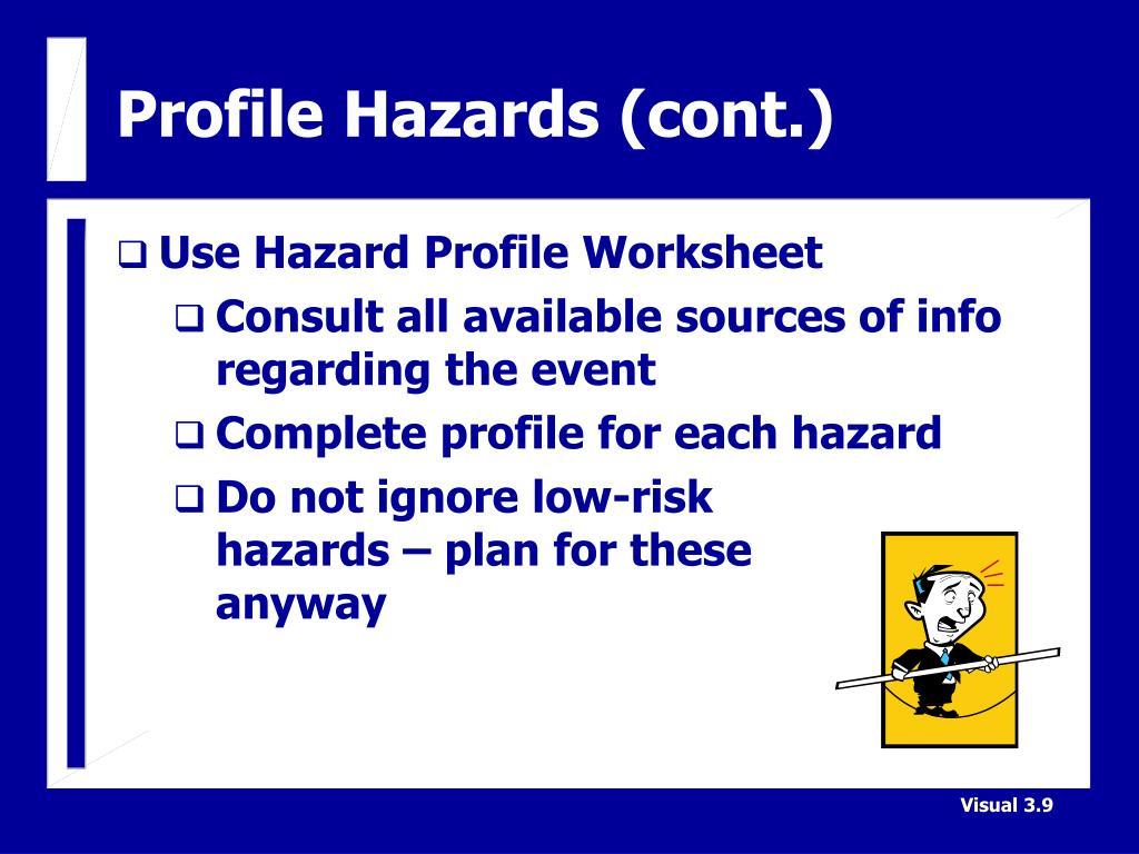 Profile Hazards (cont.)