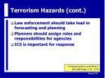 terrorism hazards cont25