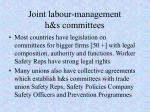 joint labour management h s committees