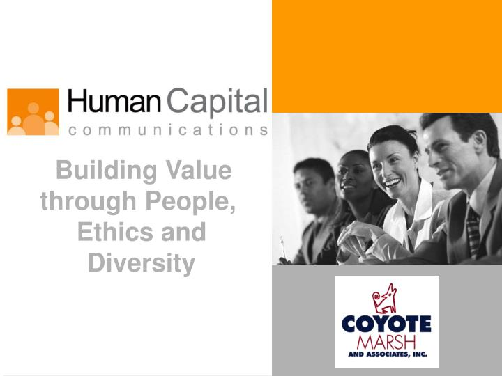 Building Value through People,