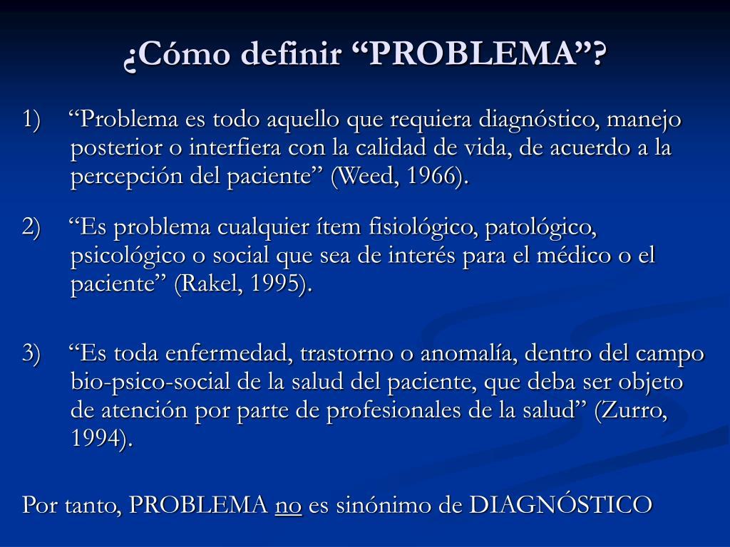 """¿Cómo definir """"PROBLEMA""""?"""