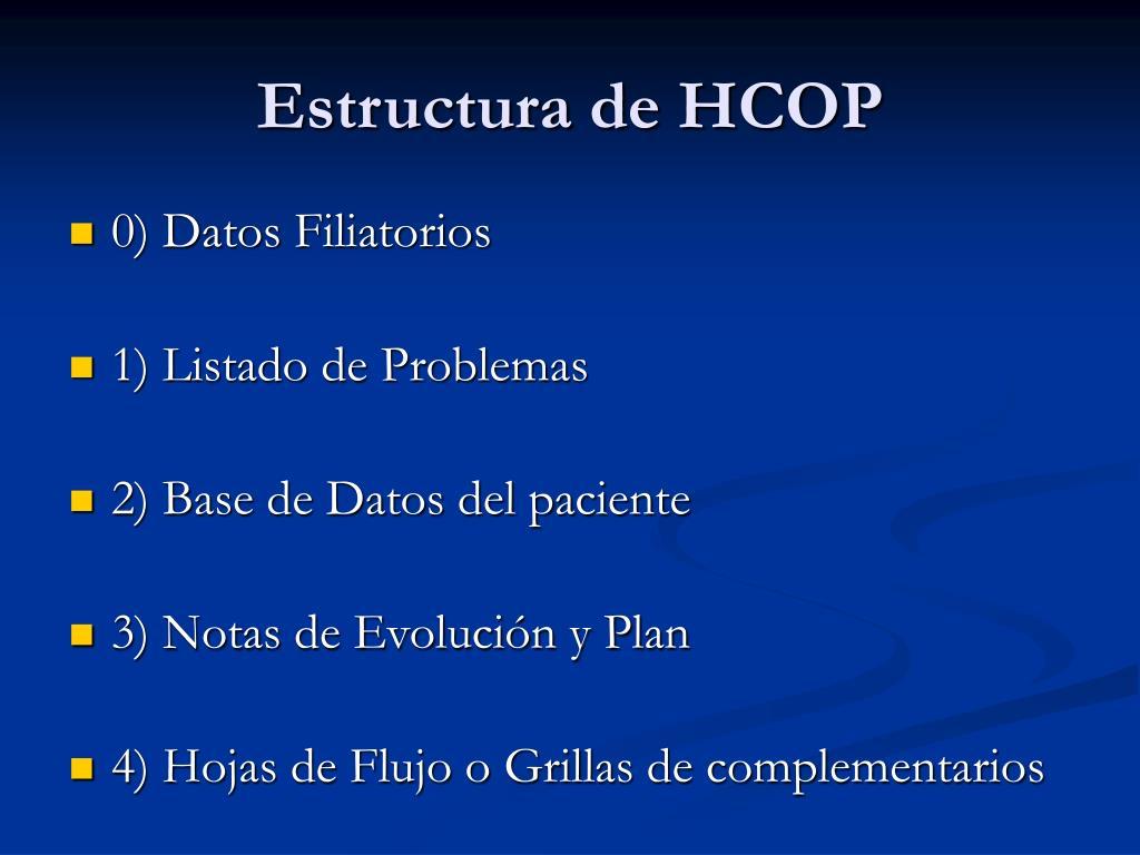 Estructura de HCOP