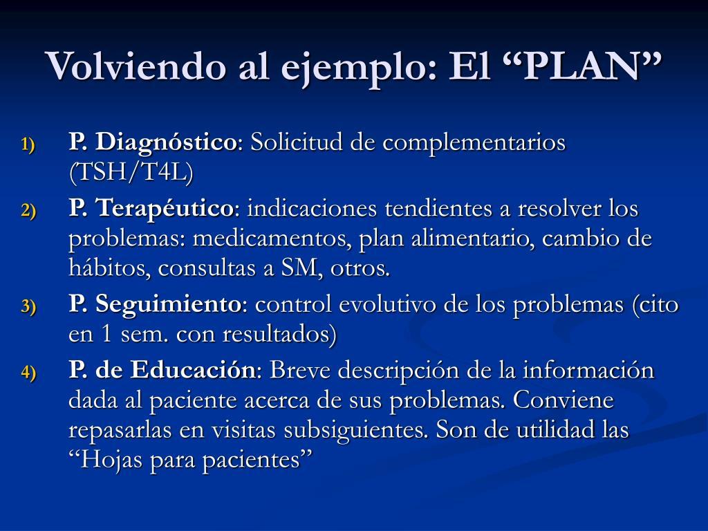 """Volviendo al ejemplo: El """"PLAN"""""""