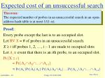 expected cost of an unsuccessful search