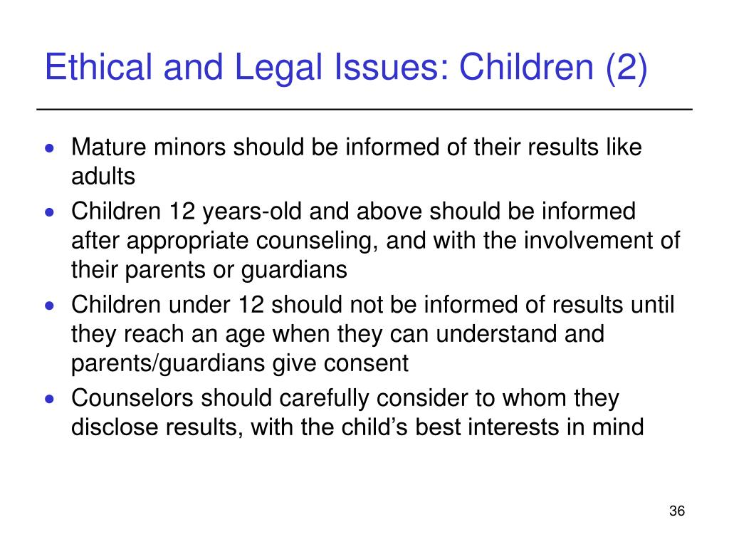 ethical issues when observing children Reflective essay social, legal & ethical issues karyn krawford 04/2012 introduction the most important function of counselling is to provide a service to the client that promotes the client's autonomy and development which must take priority in the relationship within an ethical framework.