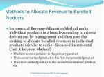 methods to allocate revenue to bundled products29