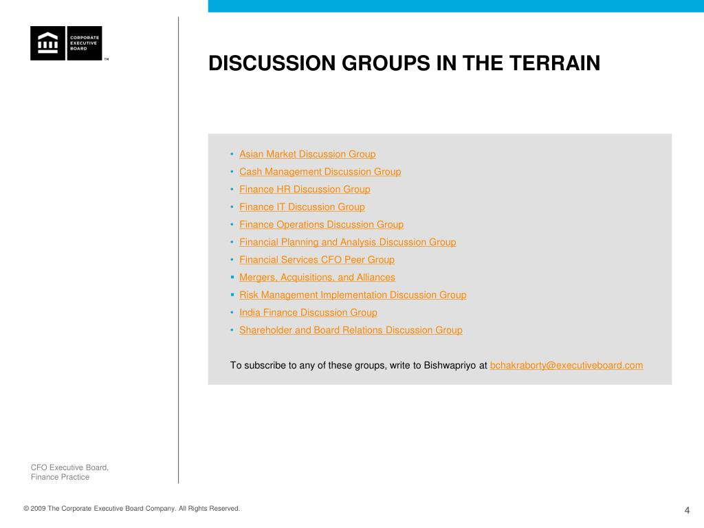 DISCUSSION GROUPS IN THE TERRAIN