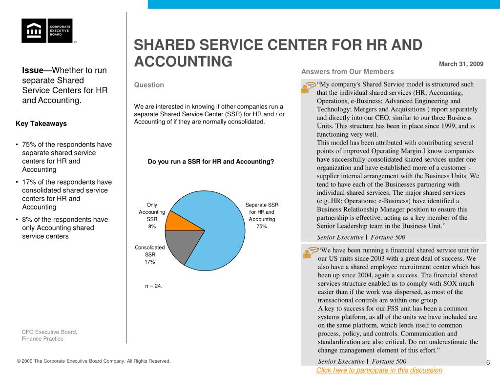 SHARED SERVICE CENTER FOR HR AND ACCOUNTING