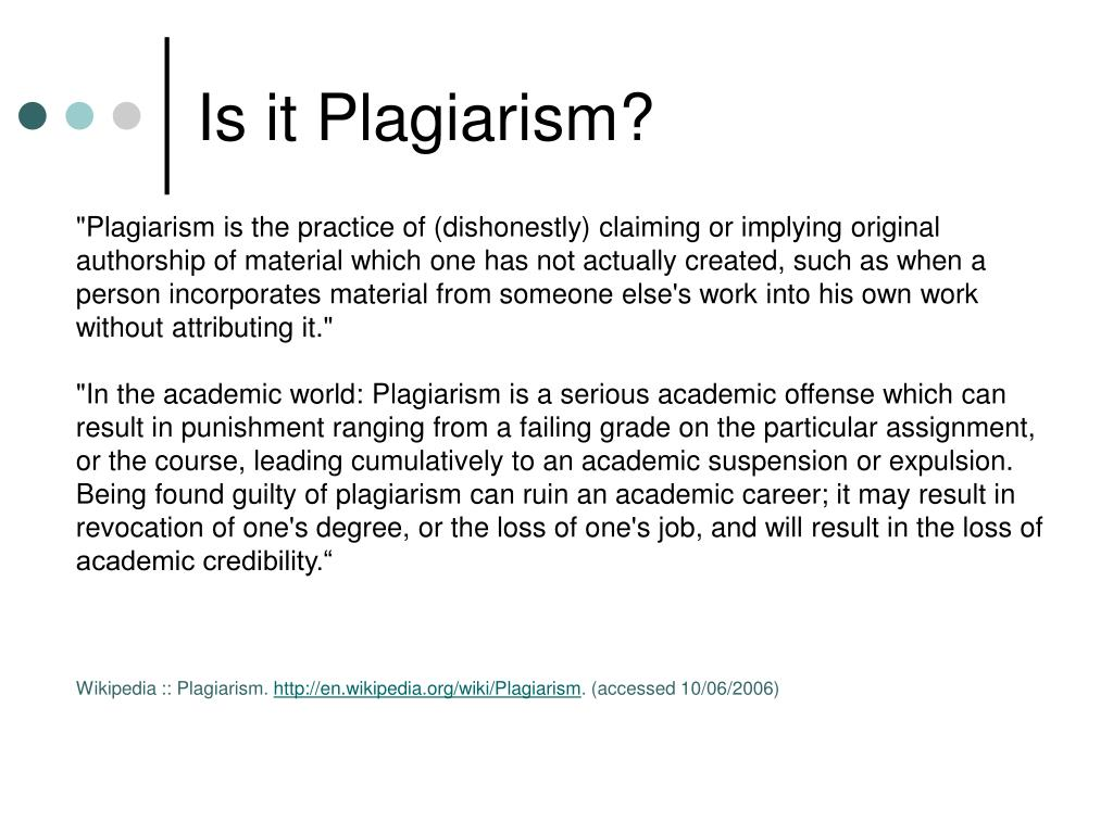 Is it Plagiarism?