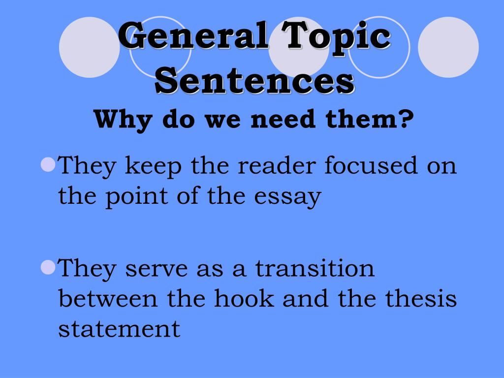 General Topic Sentences