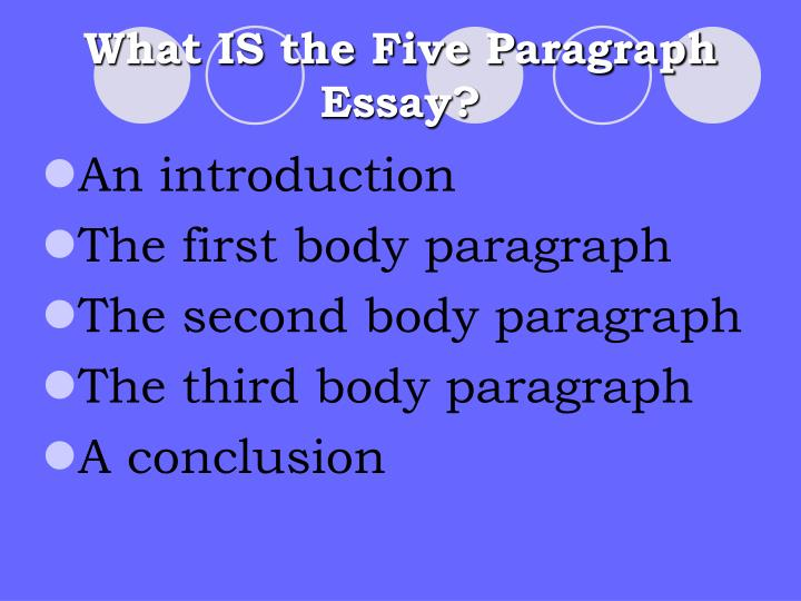 What is the five paragraph essay l.jpg