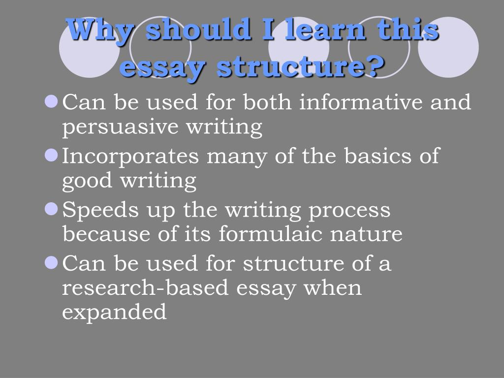 Why should I learn this essay structure?