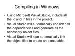 compiling in windows