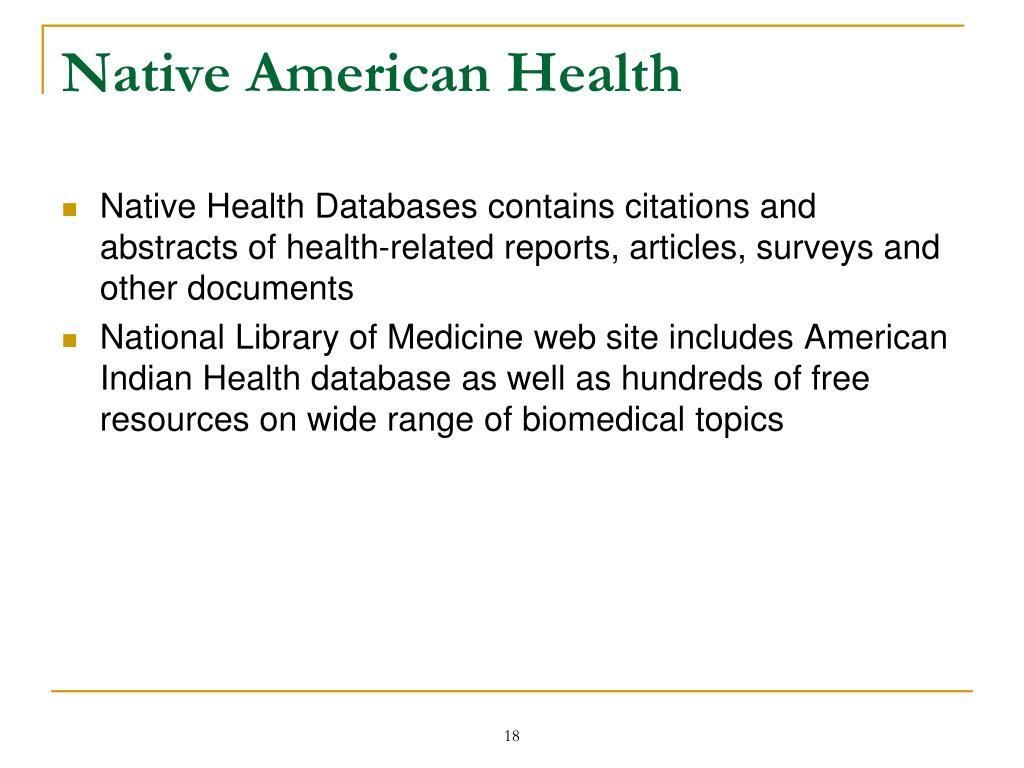 Native American Health