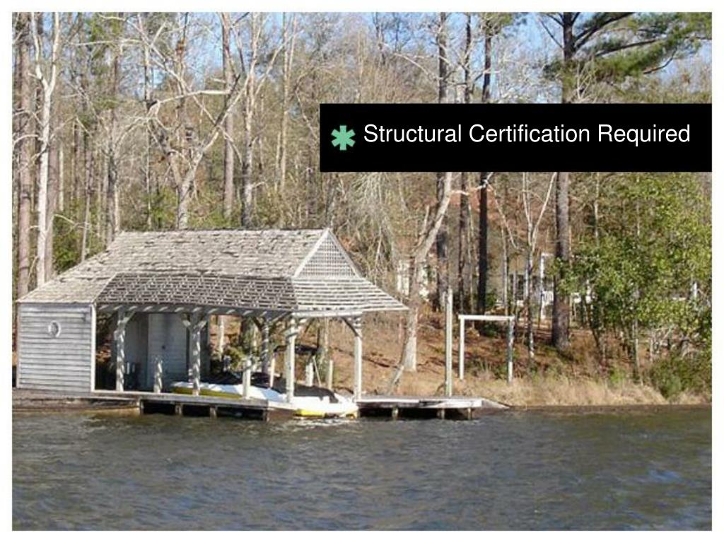 Structural Certification Required