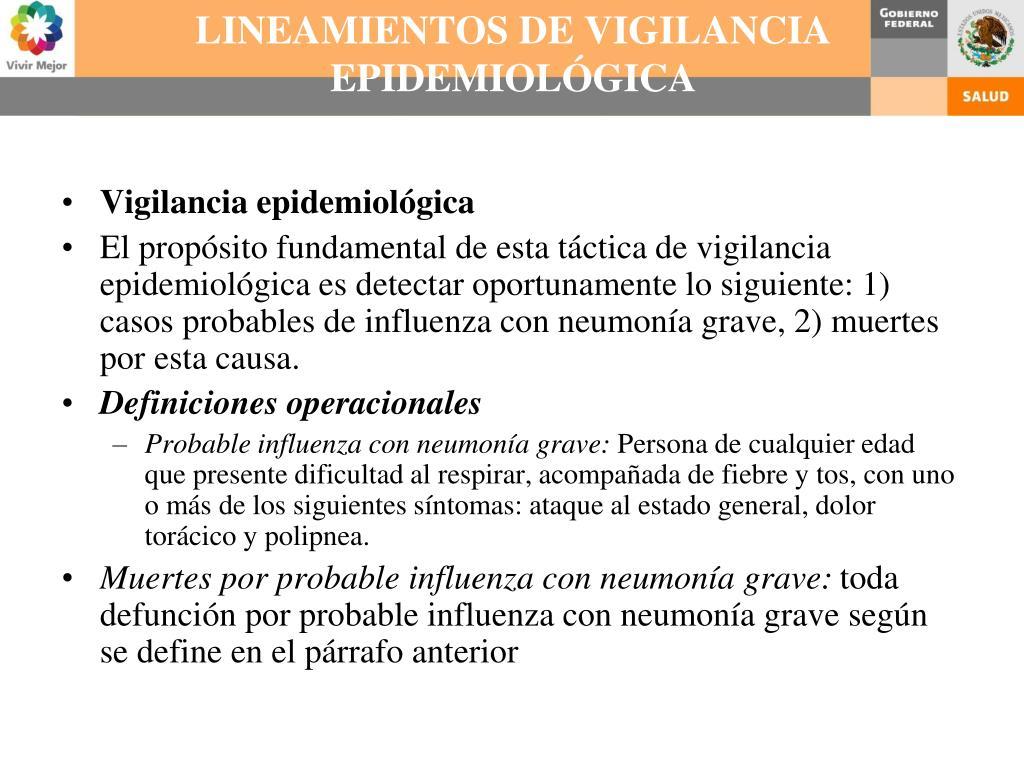 LINEAMIENTOS DE VIGILANCIA EPIDEMIOLÓGICA