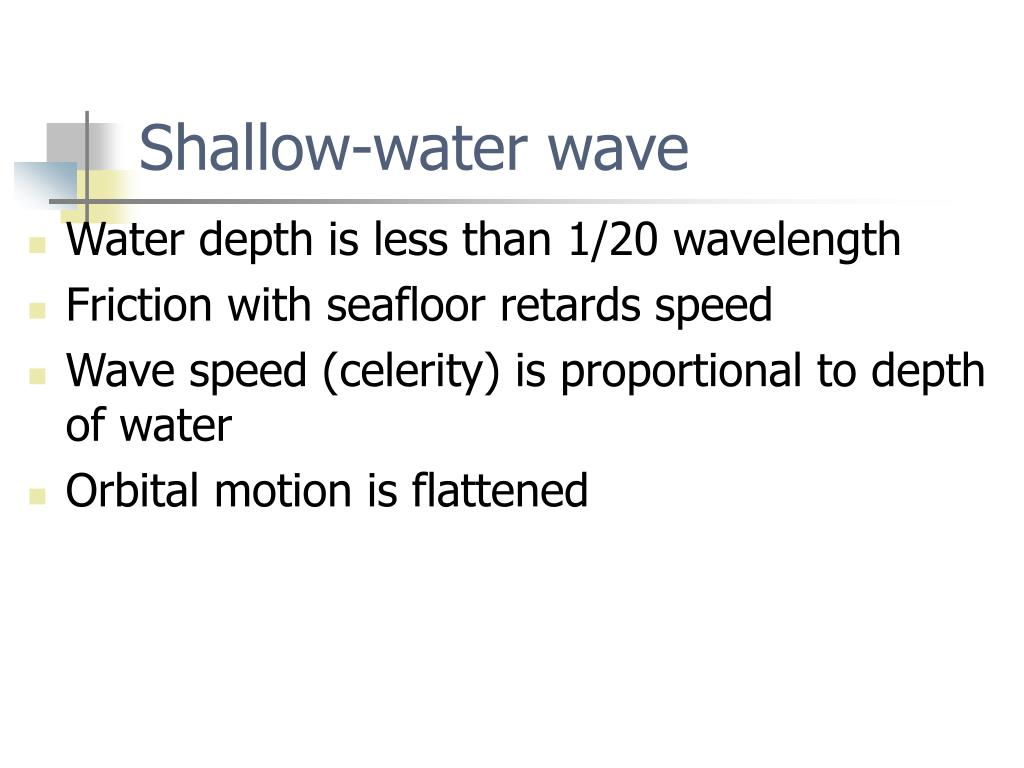 Shallow-water wave