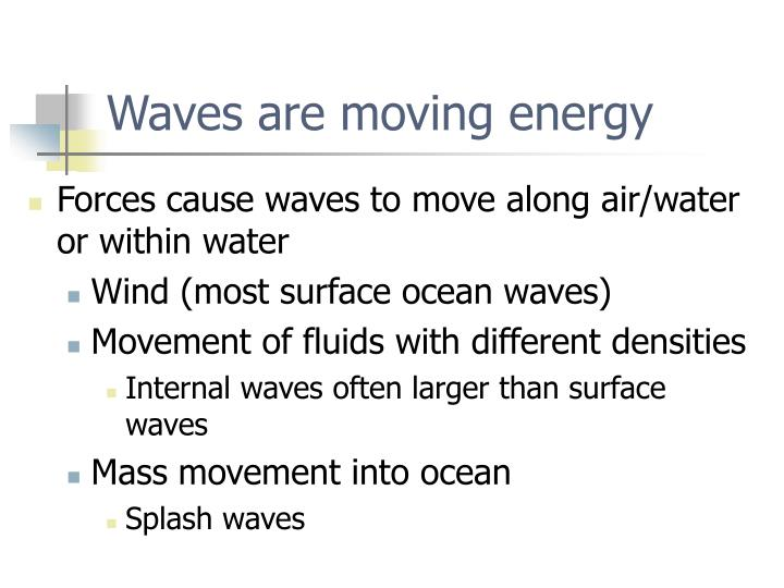 Waves are moving energy