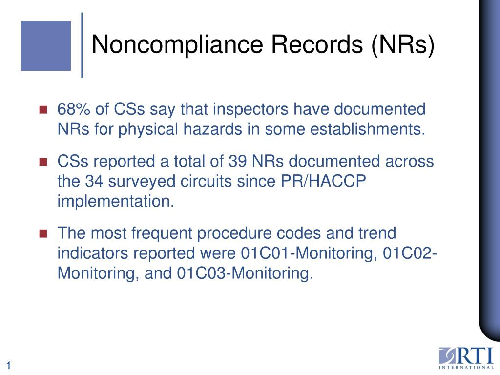 Noncompliance Records (NRs)