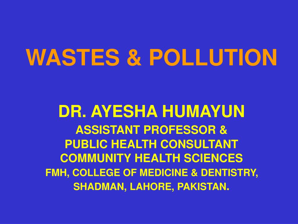 WASTES & POLLUTION