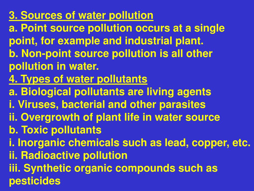 3. Sources of water pollution