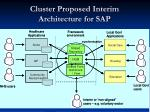 cluster proposed interim architecture for sap