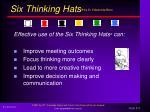 six thinking hats by dr edward de bono