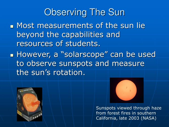 Observing The Sun